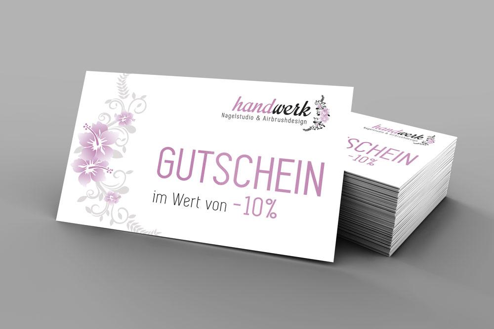 Stiworx Werbeagentur Treuekarte Gutschein Nagelstudio Handwerk